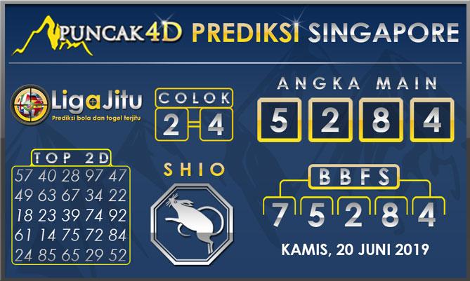 PREDIKSI TOGEL SINGAPORE PUNCAK4D 20 JUNI 2019