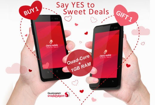 Valentine's Day deals of Cherry Mobile 'Buy One, Take One Flare Dash'