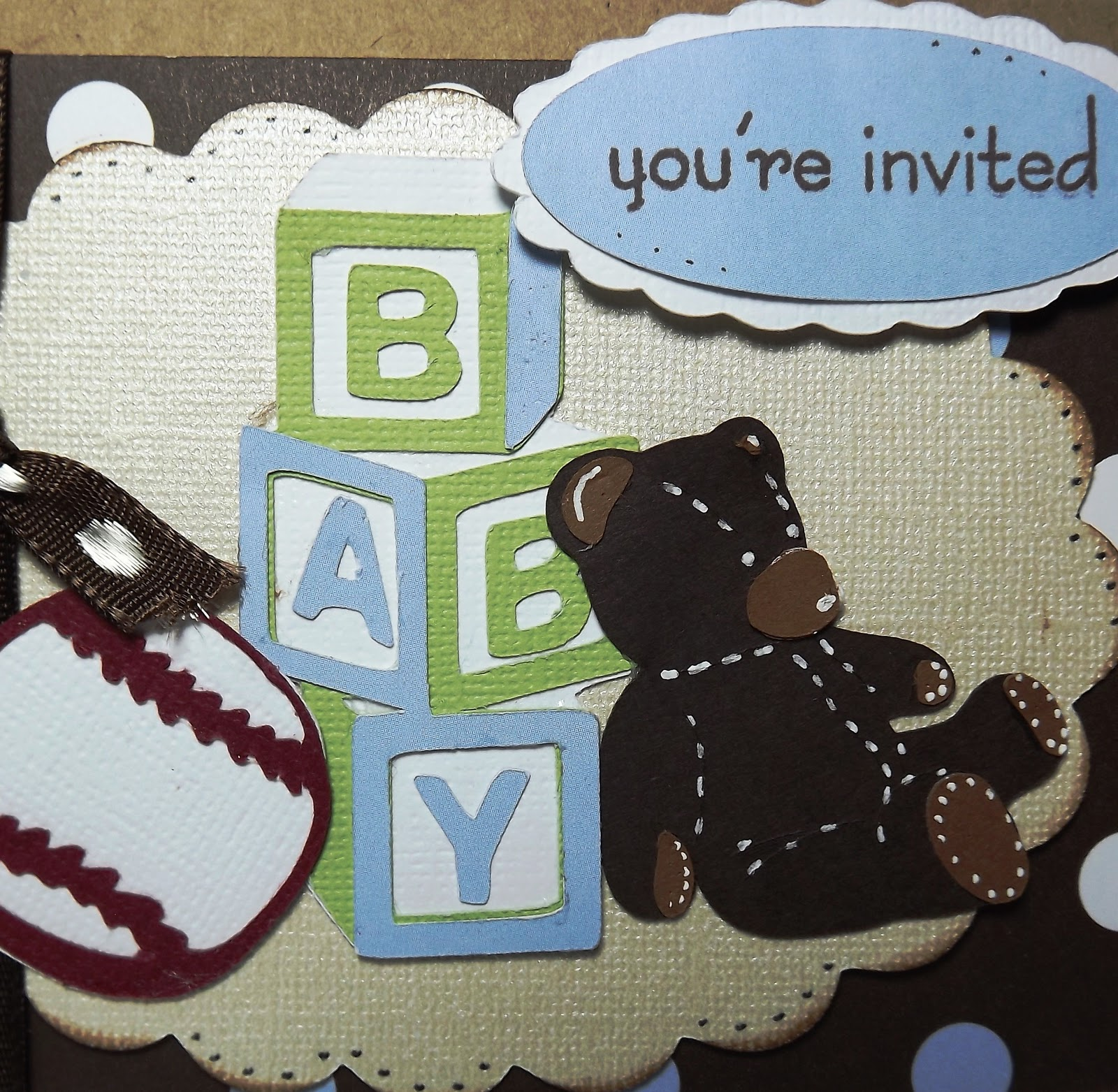 Busy With The Cricky: Baby Boy Shower Invitation For