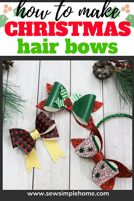Learn how to make stacked hair bows out of faux leather in this quick hair bow tutorial.