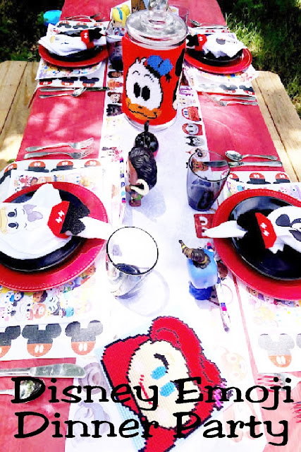 """Make your family smile with a fun Disney dinner party featuring the characters from the emoji game. With all the """"how to"""" and """"where to"""" you'll be able to create a memory while social distancing at home."""