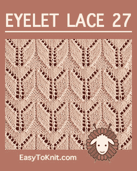 #Knit Wings stitch, Easy Eyelet Lace Pattern #easytoknit #knitlace