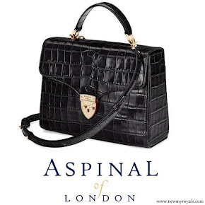 Kate Middleton carried Aspinal of London Midi Mayfair Black Bag