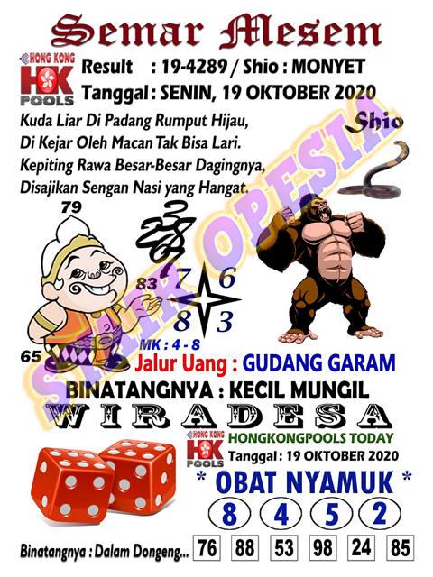 Kode syair Hongkong senin 19 oktober 2020 3