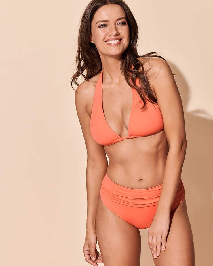 Michea Crawford Photoshoot in Orange Bikini