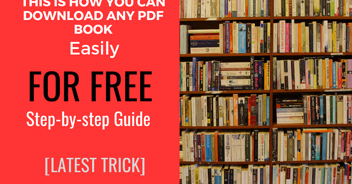100% NEW Easiest Way To Find & Download PDF Books/Novels ...
