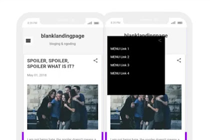Cara membuat Sidenav menu blogger murni CSS beranimasi