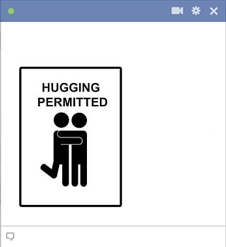 Hugging Permitted For Facebook Chat