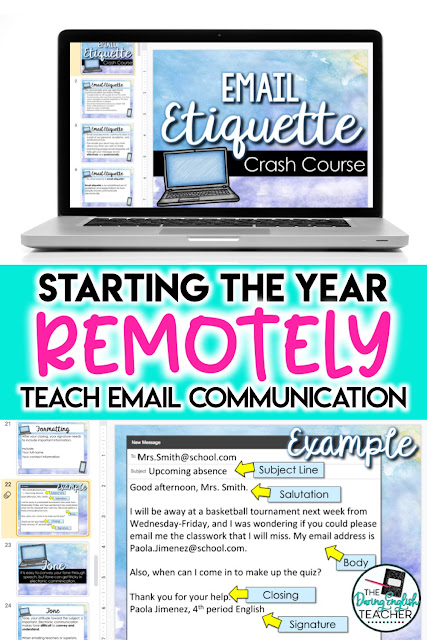 Digital email etiquette teaching unit. Teaching students how to write an email.