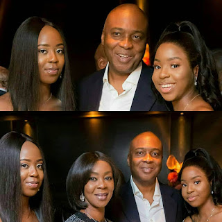 Photo of Senate president Bukola Saraki his wife and daughters