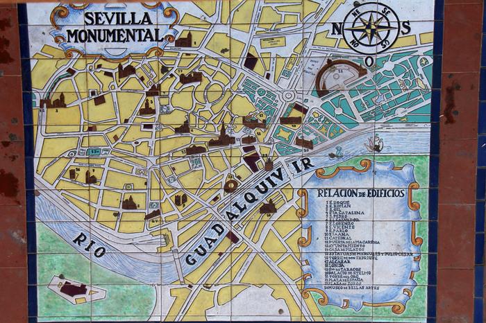 Mosaik der Provinzen am Plaza de Espana, Sevilla