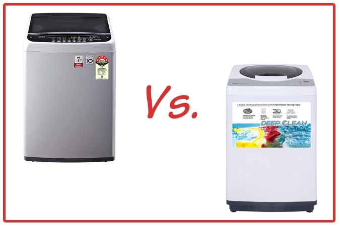 LG T65SNSF1Z (left) and IFB REW (right) Washing Machine Comparison.