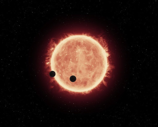 Preferentially Earth-sized planets with lots of water