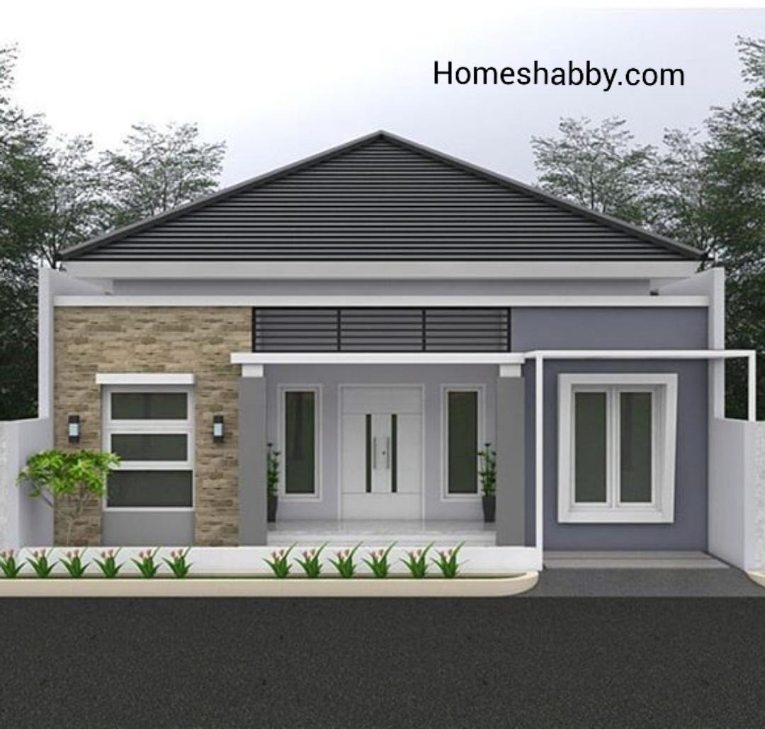 Desain Dan Denah Rumah Ukuran 10 X 12 M Memiliki 4 Kamar Tidur Dan Ruang Kerja Serta Eksterior Minimalis Melegakan Homeshabby Com Design Home Plans Home Decorating And Interior Design