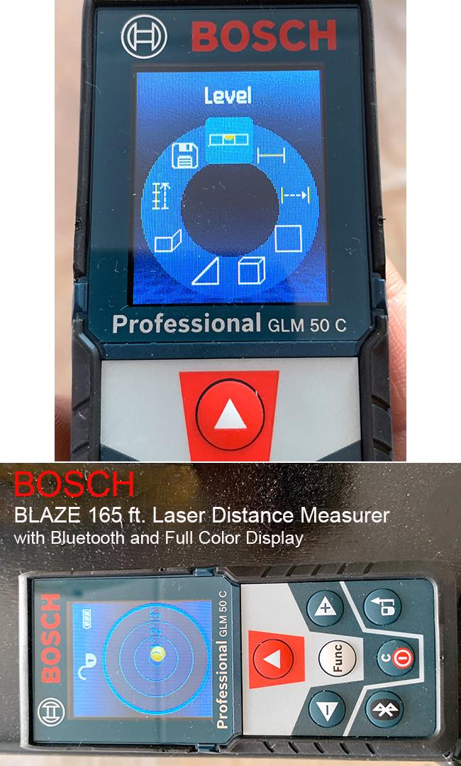 Bosch laser distance measurer with level
