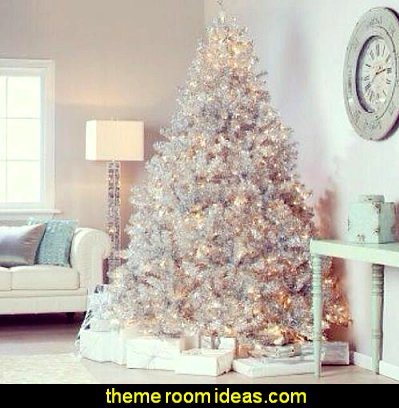 white christmas decorating ideas winter theme decorating christmas tree decorations - White Christmas Decorating Theme