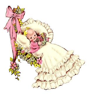baby vintage image illustration digital