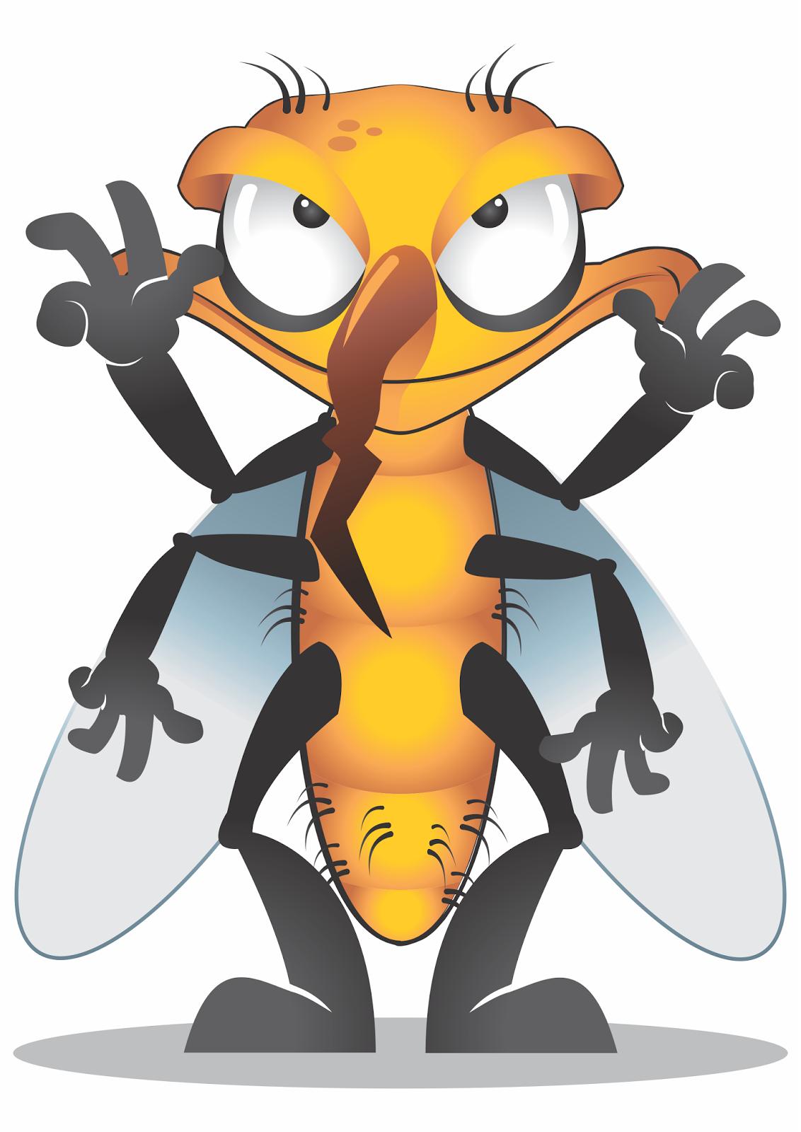 Ilustração de um mosquito para um evento