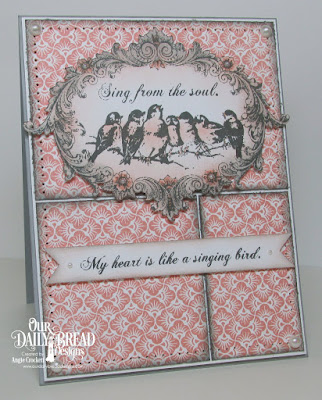 Artistic Outpost Songbirds, Our Daily Bread designs Chalkboard Fan Background, Card Designer Angie Crockett