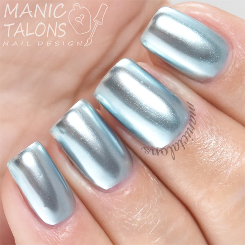 Madam Glam Metallic Gel Ice Blue Swatch