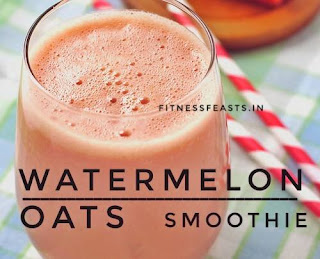 Watermelon oats smoothie