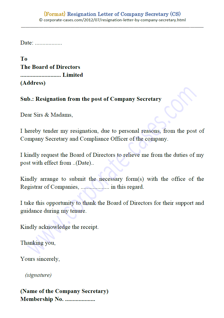Letter Of Resignation Personal Reasons from 1.bp.blogspot.com