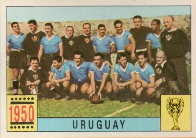 figurina uruguay mondiale 1950