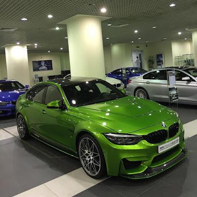 Lemon color BMW M3