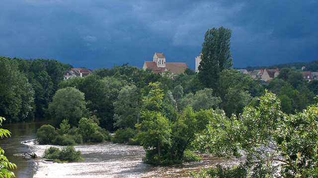 Summer storm brewing over La Roche Posay, Vienne, France. Photo by Loire Valley Time Travel.