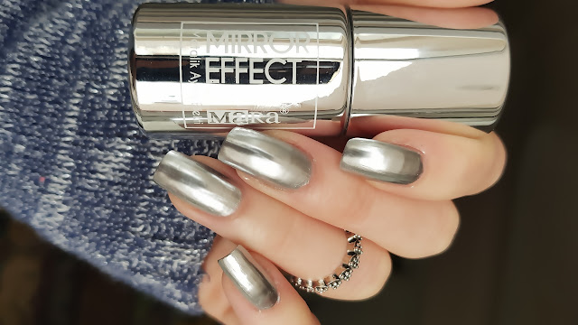 Ayna Efektli Oje / Gümüş