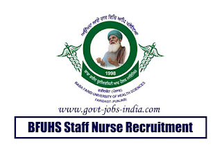 BFUHS Staff Nurse Recruitment 2020