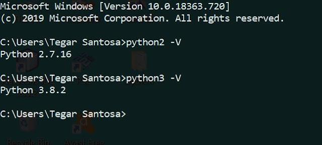 Test Run Python di CMD