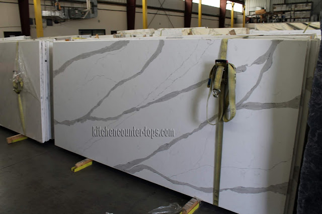 Quartz that looks like calacatta marble