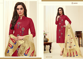 Gangour Nx Demina Cotton Churidar dress material