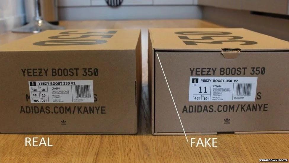 Original packaging vs fake packaging