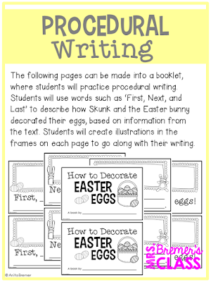 Procedural Writing Activity: How to Decorate Easter Eggs