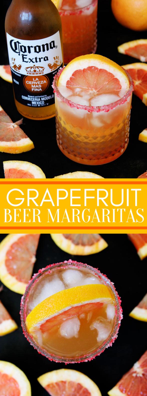 Grapefruit Beer Margaritas #drinks #cocktail