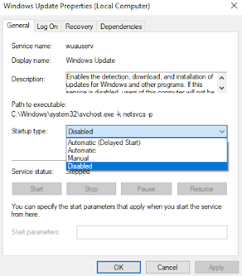 Disable Windows Update Secara Permanen