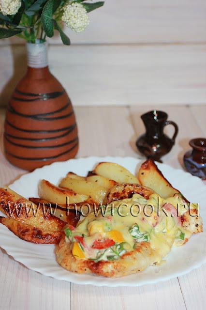 рецепт отбивных из курицы с овощами в духовке