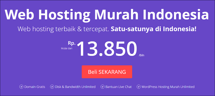 review hostinger web hosting unlimited terbaik