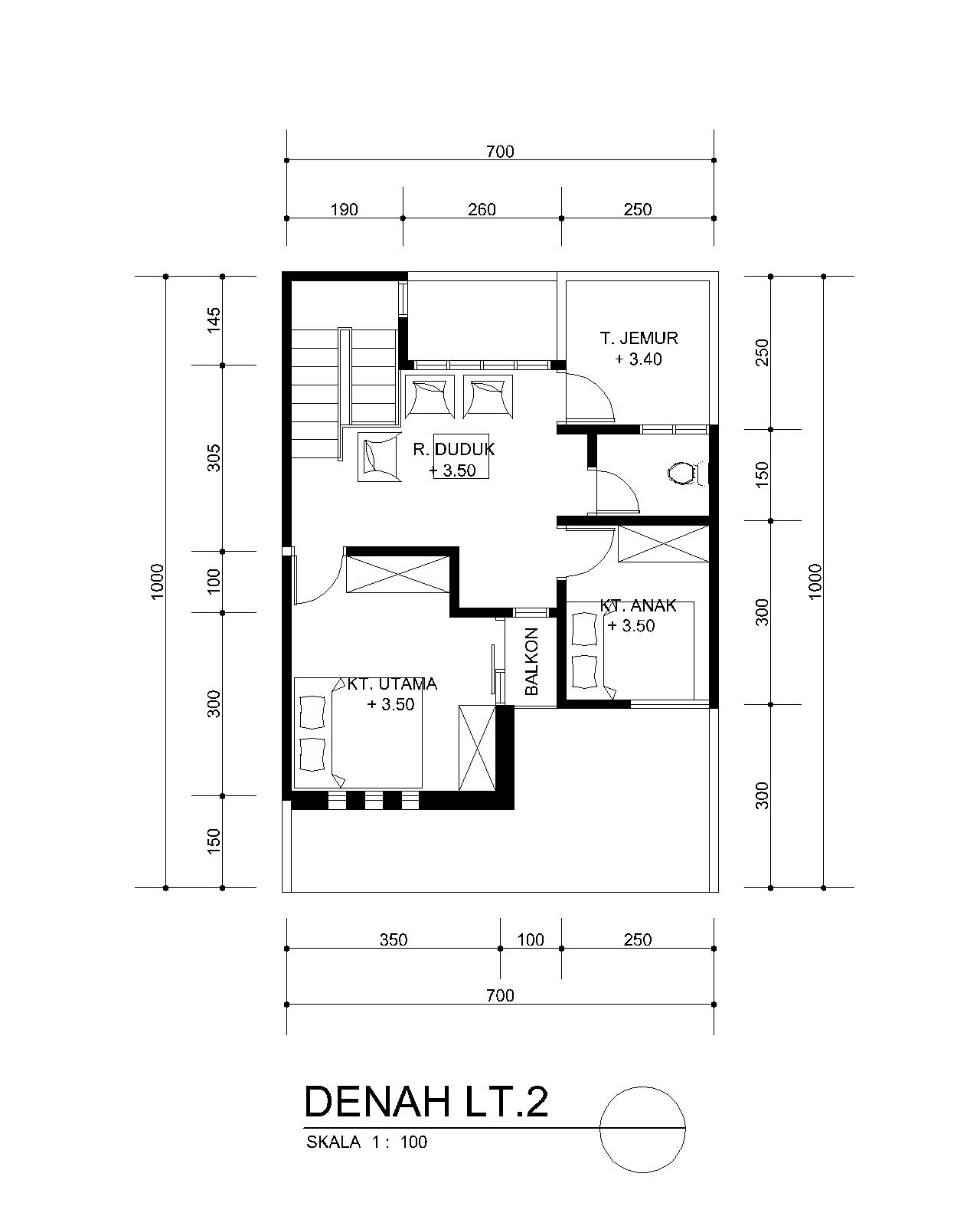 planning of buildings DESAIN RUMAH MINIMALIS MUNGIL 7 X 10 METER