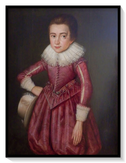 Painting of an unknown Elizabethan boy, Trerice, Cornwall