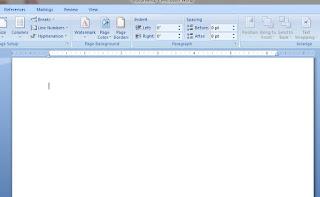 Cara membuat Garis Samping di Word 2007