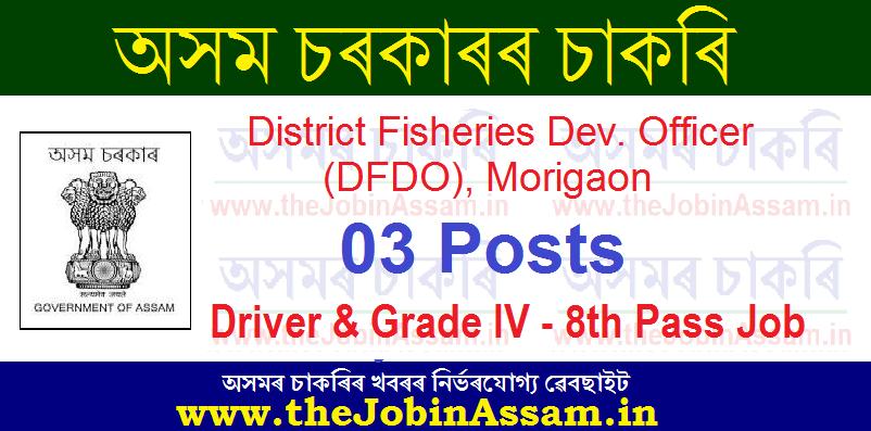 DFDO Morigaon Recruitment 2021: Apply for 03 Driver & Grade IV Posts