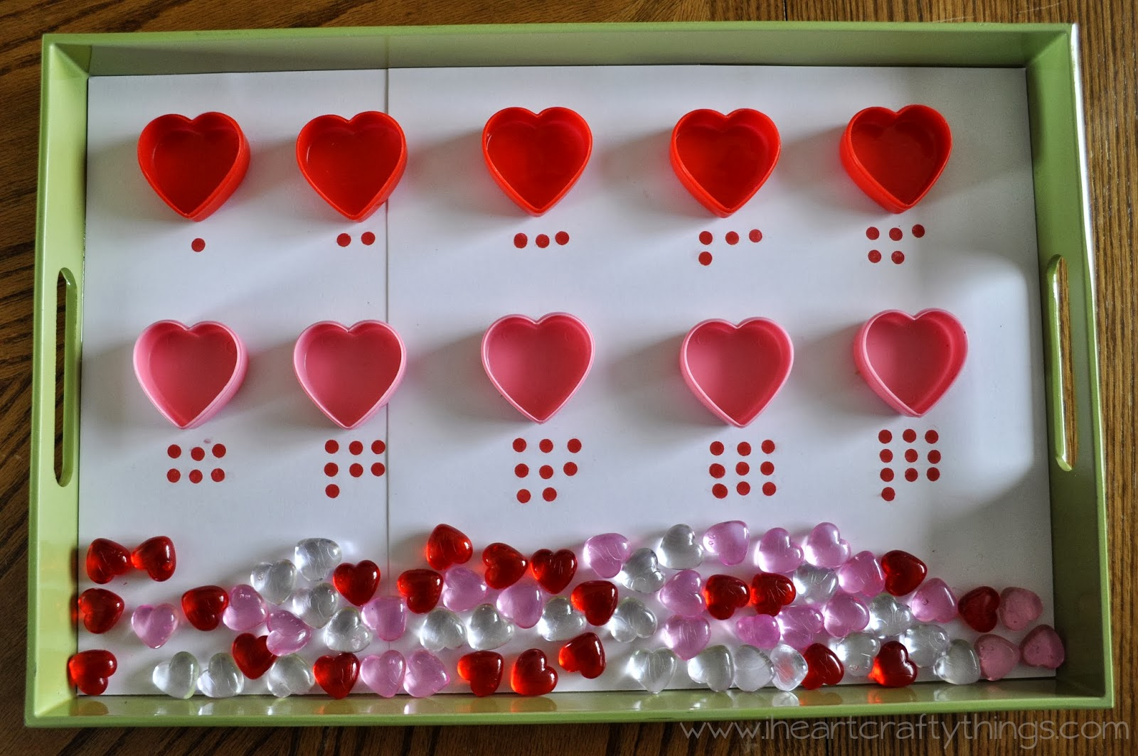 Valentine S Day Activity Trays Fine Motor Numbers Counting Sorting Name Recognition