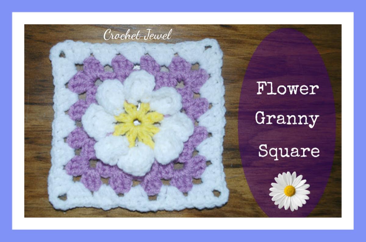 Amy\'s Crochet Creative Creations: Crochet Daisy Flower Granny Square ...
