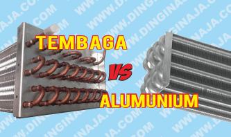 perbedaan pipa tembaga dan aluminium pada AC