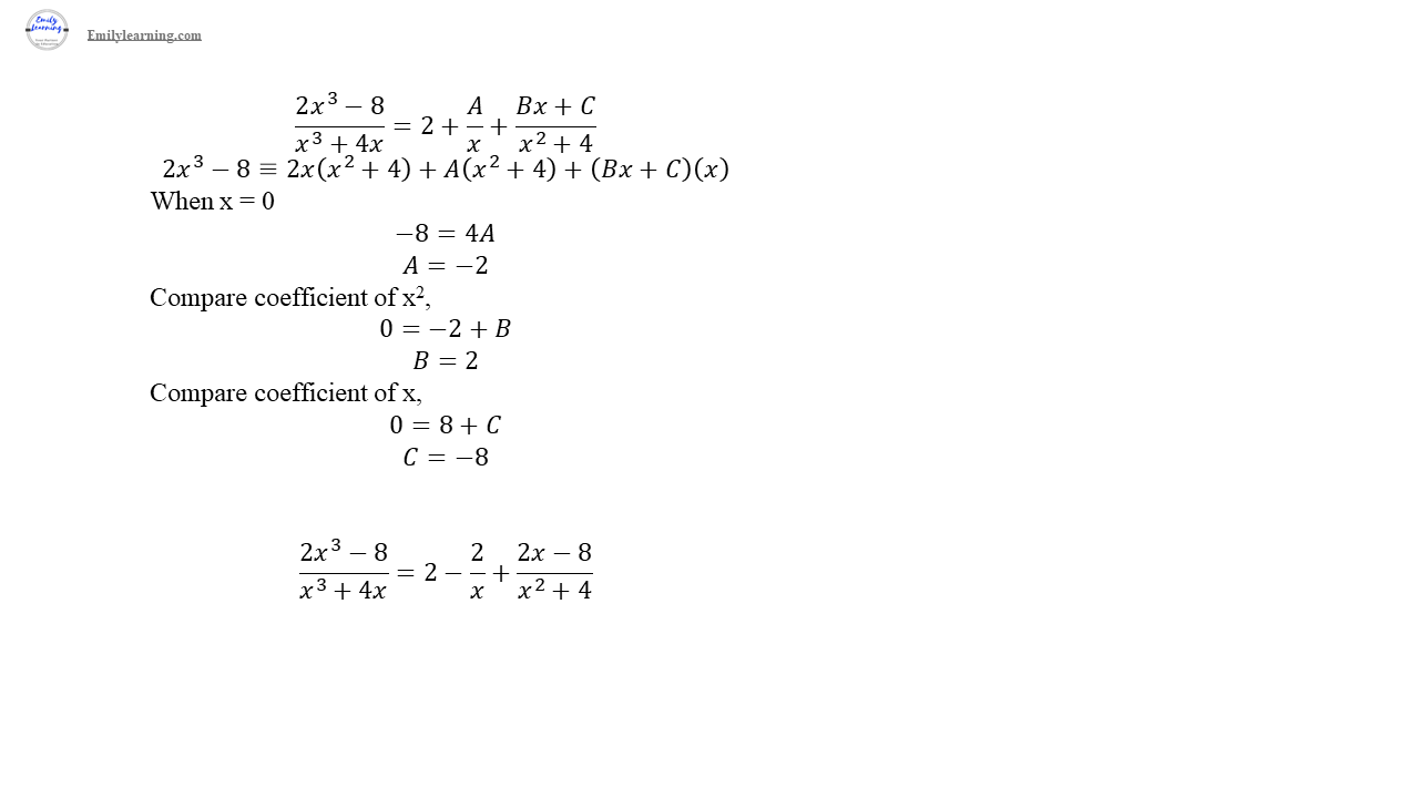 O level additional mathematics specimen paper 2 question 1 solution on partial fractions