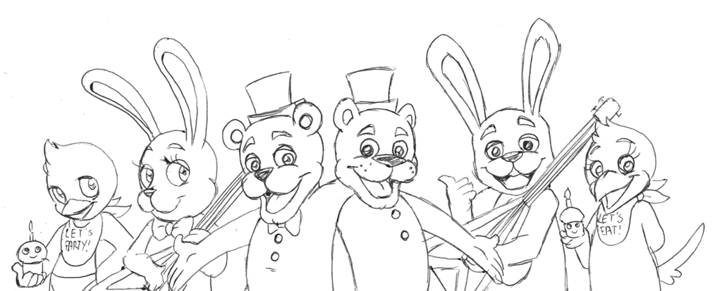 fnaf cute animatronics coloring pages - photo #23