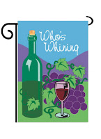 double applique wine flag